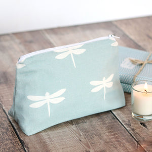Dragonfly Make Up Bag - Aqua - Meg Morton