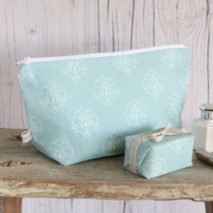 Jhansi  Wash Bag - Whisper On Blue Haze - Meg Morton