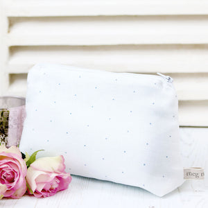 Dotty Daze Make Up Bag - Loire Blue - Meg Morton