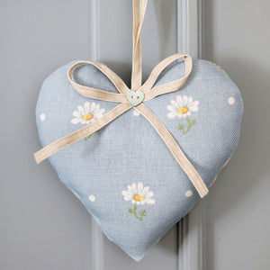 Meadow Daisy Lavender Heart - Summer Sky - Meg Morton