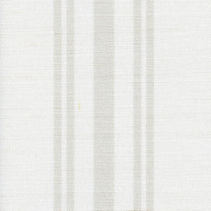 Dorset Striped Linen Fabric - Millstone On White - Meg Morton
