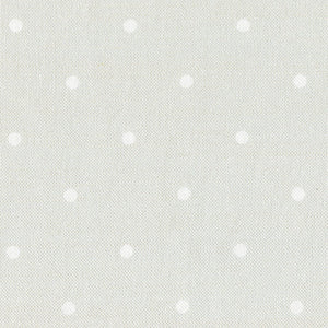Country Dots Fabric - White On Millstone - Meg Morton