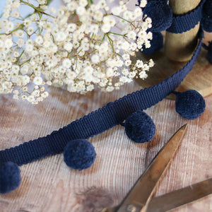 Durlston Blue Pom Pom Trim