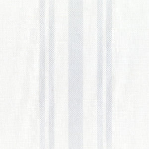 Dorset Striped Linen Fabric - Pale Grey On White - Meg Morton