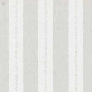 Faded Pearl Striped Linen Fabric - Millstone On White - Meg Morton