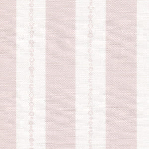 Faded Pearl Striped Linen Fabric - Vintage Pink On White - Meg Morton