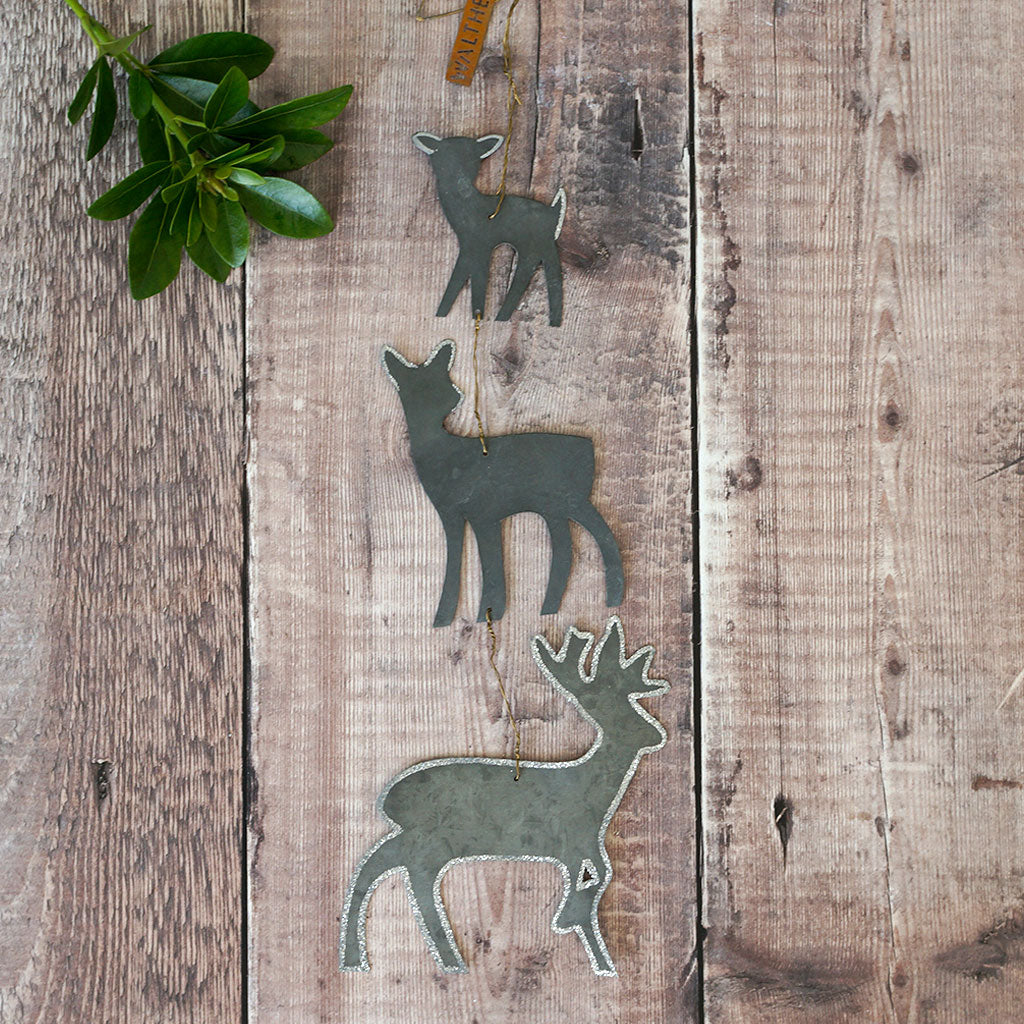 Danish Zinc Deer Decoration - Meg Morton