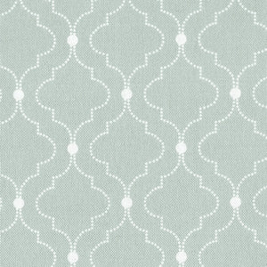Chalbury Fabric - White On River Mist - Meg Morton