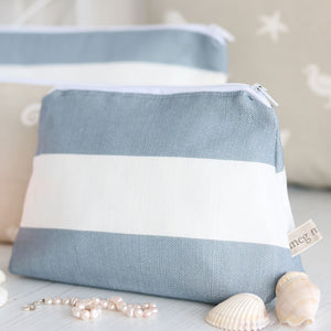 Sea Spray Harbour Blue - Make Up Bag - Meg Morton