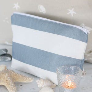 Sea Spray Wash Bag - Harbour Blue - Meg Morton