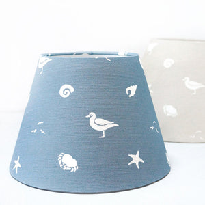 Sea Spray Lampshade- Harbour Blue - Meg Morton