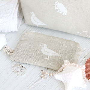 Fabric Purse - Seaspray Salcombe Sand - Meg Morton