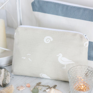 Sea Spray Make Up Bag - Salcombe Sand - Meg Morton