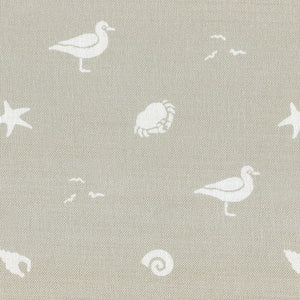 Sea Spray Linen Fabric - Salcombe Sand - Meg Morton