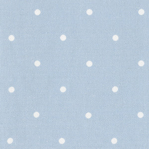 Country Dots Fabric - White On Deep Summer Sky - Meg Morton