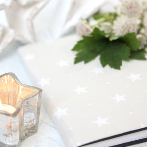 Starlight Fabric Covered Notebook - Millstone - Meg Morton