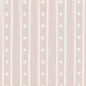 Starfall Fabric - White On Vintage Pink