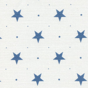 Starlight Fabric - Blue Shadow On White - Meg Morton