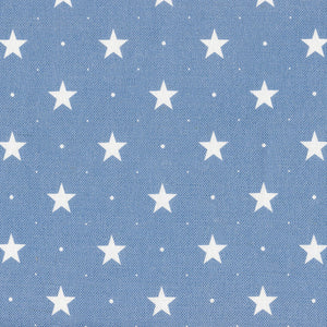 Starlight Fabric - White On Blue Shadow