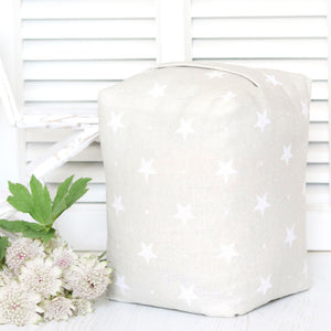 Starlight Lavender Scented Doorstop- White On Millstone. - Meg Morton