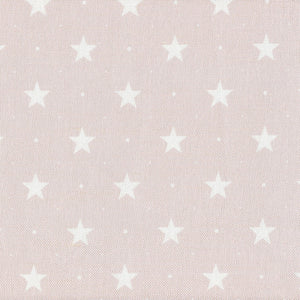 Starlight Fabric - White On Vintage Pink
