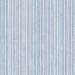Studio Stripe Linen Fabric - Dusky Blue