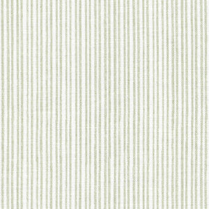 Studio Stripe Linen Fabric - Soft Moss
