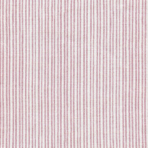 Studio Stripe Linen Fabric - Wild Rose