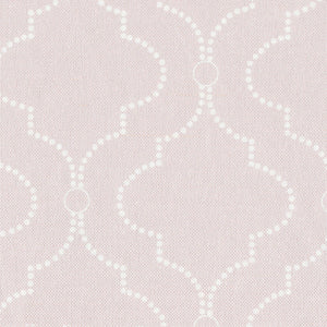 Chalbury Large Fabric - White On Vintage Pink - Meg Morton