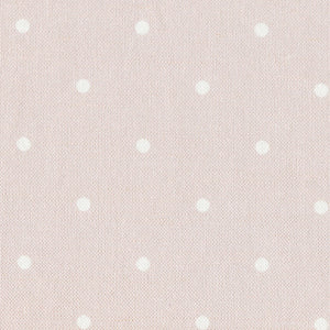 Country Dots Fabric - White On Vintage Pink - Meg Morton