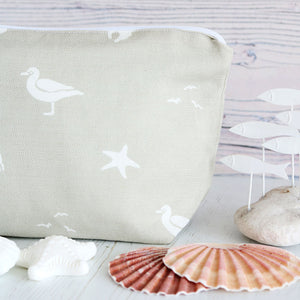 Sea Spray Wash Bag - Salcombe Sand - Meg Morton