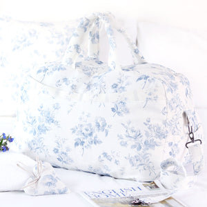 NEW Luxury Vintage-style Weekend Bag - Adelaine Loire Blue - Meg Morton