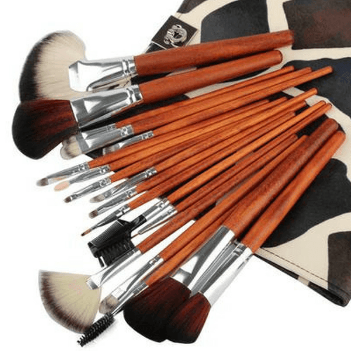 Professional Cosmetic Brush Set 18pcs + Makeup Bag - Lolipop Shop