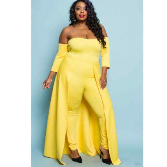 Plus Size  Bodysuit Set With Pants