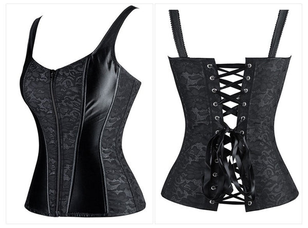 Waist Training Lace and Satin Corset