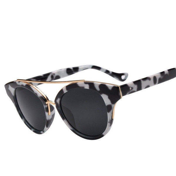 Marble Alloy Frame Cat Eye Sunglasses - Lolipop Shop