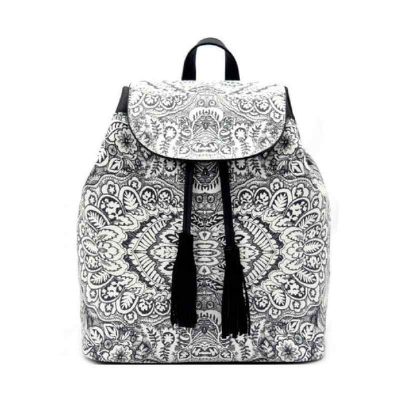 Paisley Printed Fashion Backpack