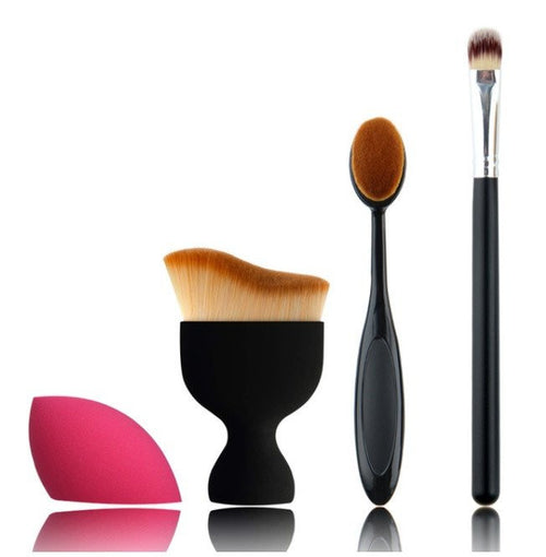 Foundation Brush Kit - 4 pcs - Lolipop Shop
