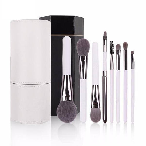 8 pcs Makeup Brush Kit with Brush Holder - Lolipop Shop
