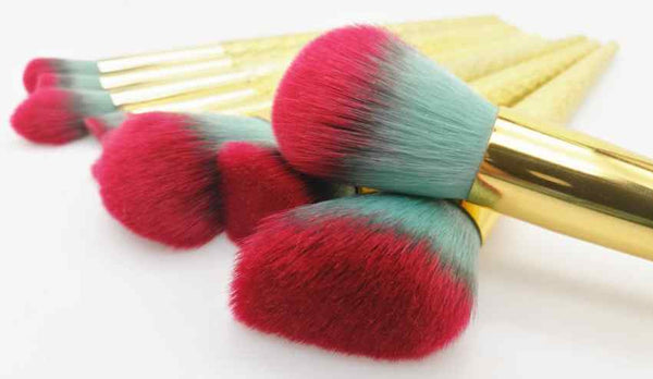 Gold Unicorn Makeup Brushes