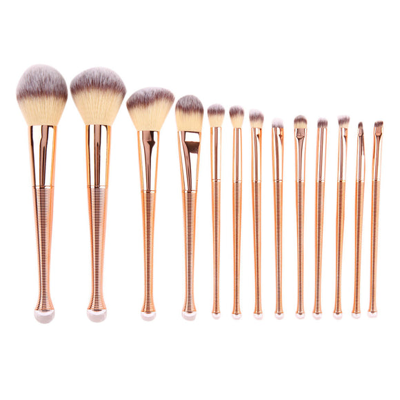 Rose Gold Makeup Brushes 13pcs