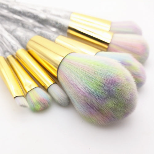 Glitter Unicorn Makeup Brushes