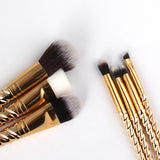 Rose Gold Unicorn Makeup Brushes - Lolipop Shop
