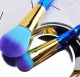 Blue Rainbow Makeup Brushes - Lolipop Shop