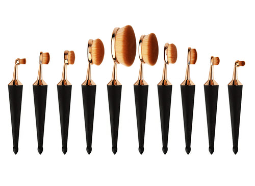 Lolipop Cone - Oval Makeup Brush Set - Lolipop Shop