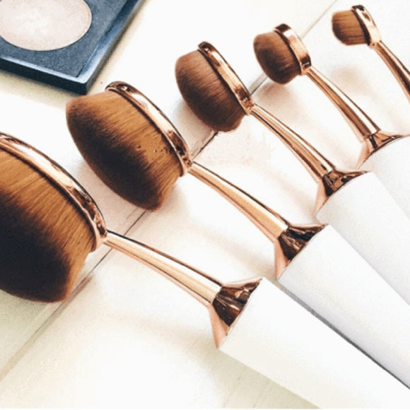 Lolipop Cone - Oval Makeup Brush Set