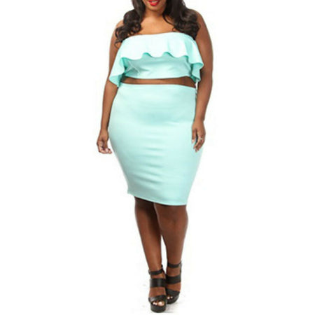 Plus Size Top With Pencil Skirt