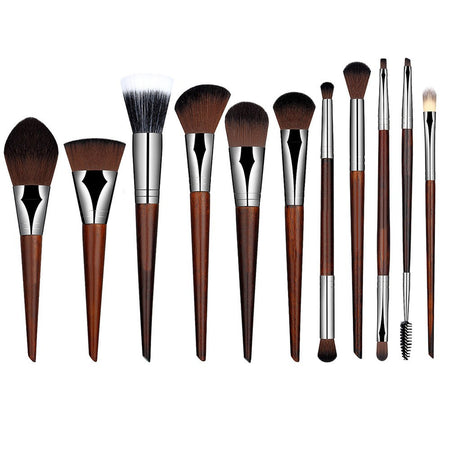 Colorful Spiral Shape Makeup Brush Set 10pcs