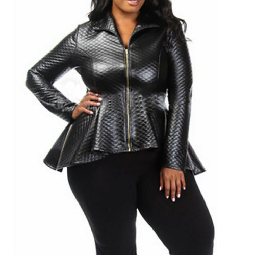 Plus Size Rocker Jacket