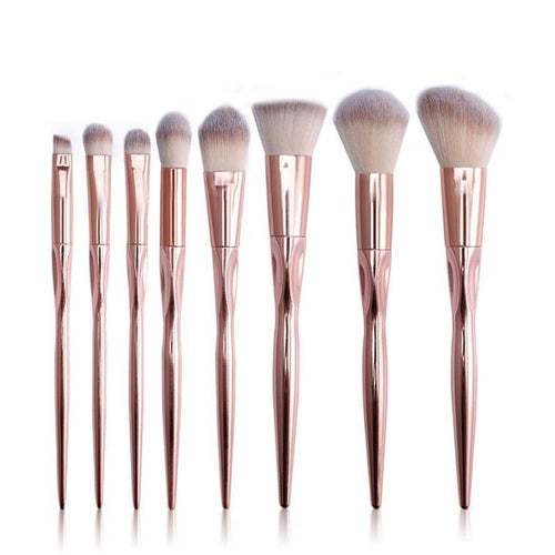 Lilac Makeup Brush Set 8pcs - Lolipop Shop